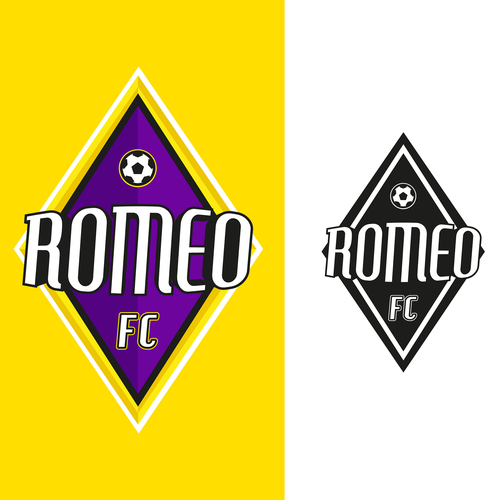 Futbol logo with the title 'Escudo fútbol Romeo FC'