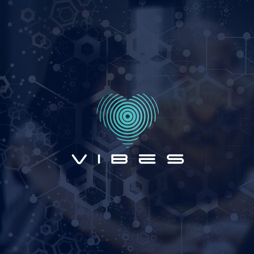 Symmetrical design with the title 'Vibes'