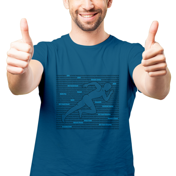 Flat t-shirt with the title 'Sprinter, T-shirt design'