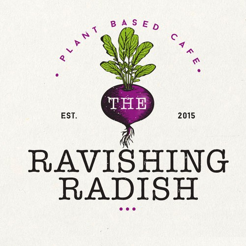 Restaurant logo with the title 'Logo Design For Ravishing Radish'