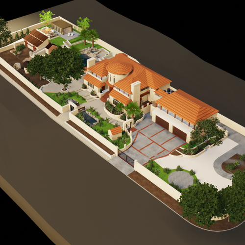 Exterior design with the title 'Isometric 3D House'