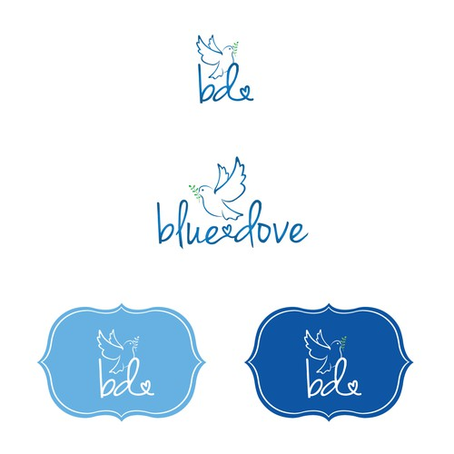 Dove logo with the title 'Blue Dove'