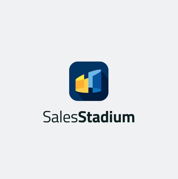 Stadium logo with the title 'Iconic Logo for Sales Stadium'