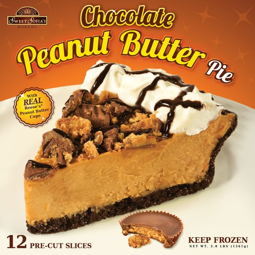 Pie design with the title 'Chocolate Peanut Butter Pie'
