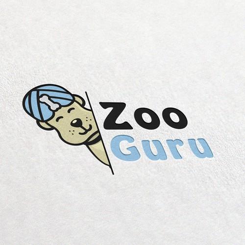 Bear claw logo with the title 'Zoo Guru'