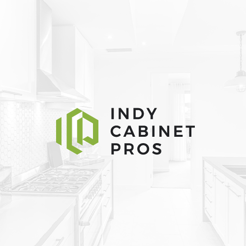 Cabinet design with the title 'Indy Cabinet Pros'