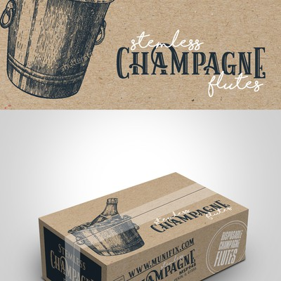 Champagne glass package design