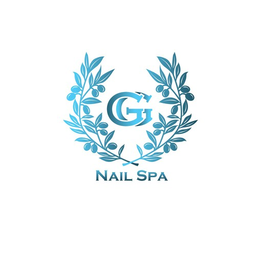 Nail polish logo with the title 'Greek Goddess Nail Spa '