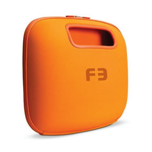 Laptop design with the title 'F3'