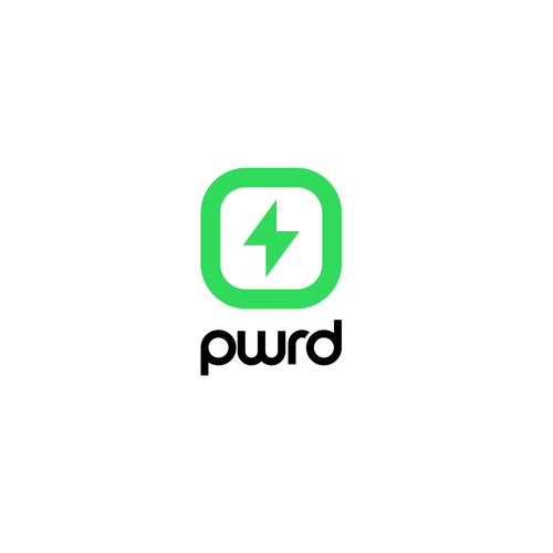 Neon design with the title 'Logo for PWRD'