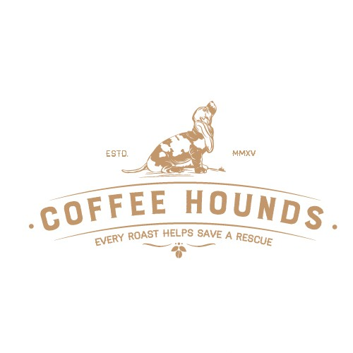 Parcel logo with the title 'Coffee Hounds'