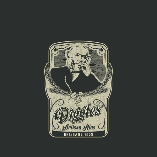Australian logo with the title 'Diggles' Artisan Ales'