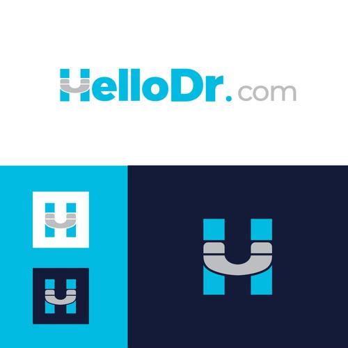 Call logo with the title 'helloDr.com logo l wordmark logo'