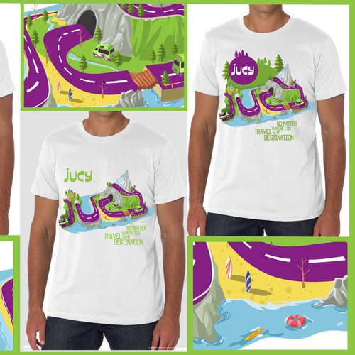 Holiday t-shirt with the title 'JUCY '