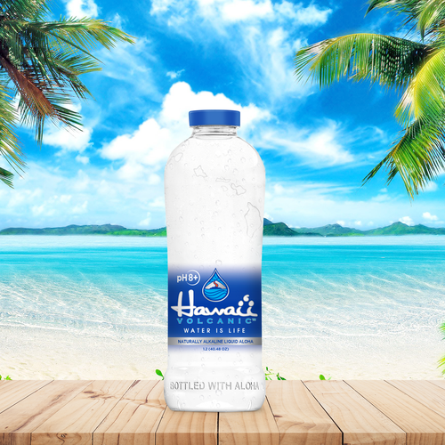 Water packaging with the title 'Hawai'i'