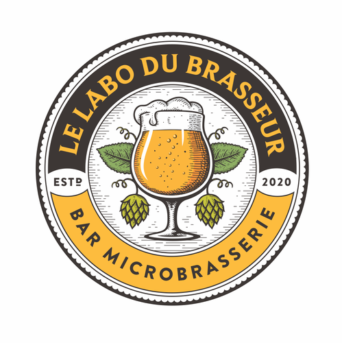 Bartender logo with the title 'Le Labo du Brasseur'