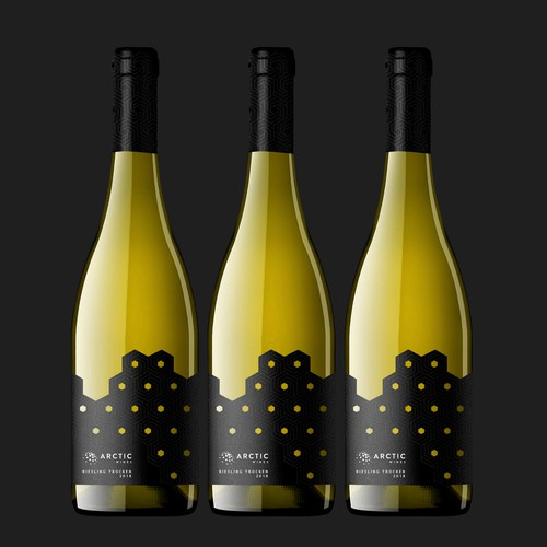 Eye-catching label with the title 'Riesling Trocken Label Design'