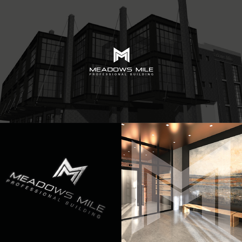 Bold logo with the title 'Meadows Mile Professional Building'