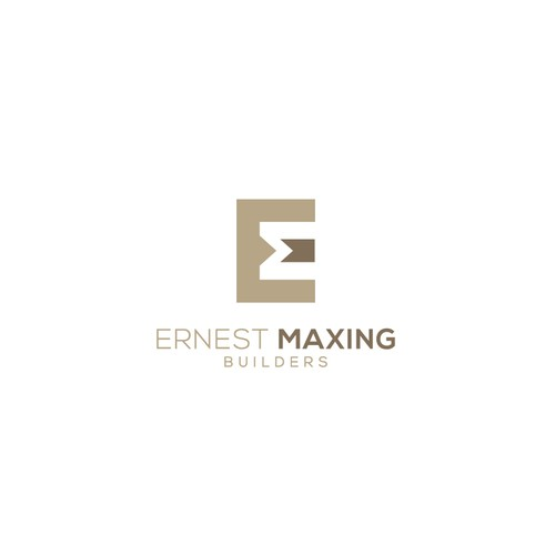 Woodworking logo with the title 'Logo for Ernest Maxing Builders'