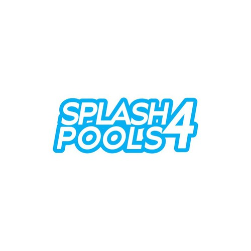 Cleaning company logo with the title 'Logo concept for Splash4Pools  '