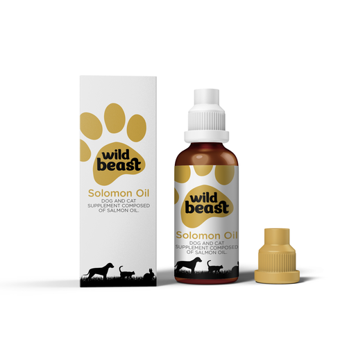 Cat packaging with the title 'Wild Beast - Package Design'