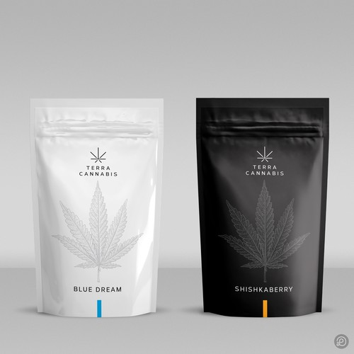 Cannabis packaging with the title 'Cannabis packaging design'