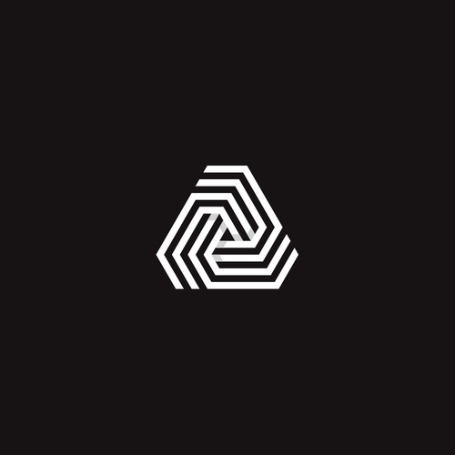 Intertwined logo with the title 'Geometric logo for trading company'