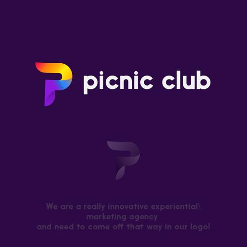 Original brand with the title 'P club logo'
