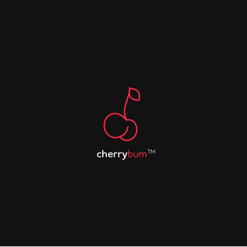 Cherry logo with the title 'Logo for a woman's fitness and motivational instagram brand'