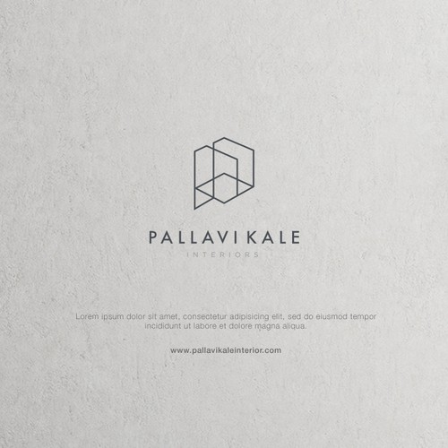 Contemporary logo with the title 'PALLAVI KALE INTERIORS'