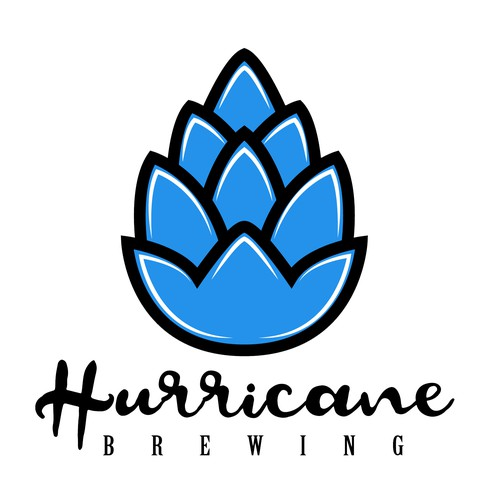 Hurricane logo with the title 'Hurricane Brewing'