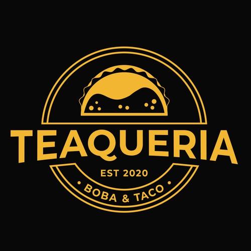 Taco design with the title 'Teaqueria'