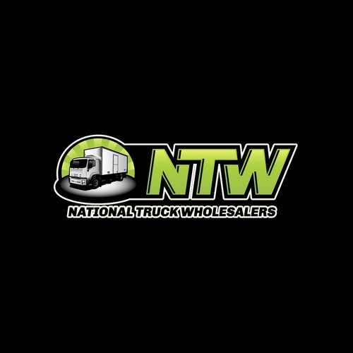 Lime design with the title 'Rocking logo for truck wholesalers'