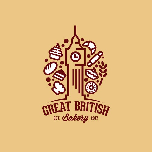 London logo with the title 'Great British Bakery'