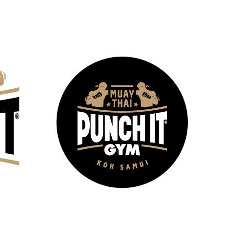 Krav Maga logo with the title 'Logo for Muay Thai training gym'