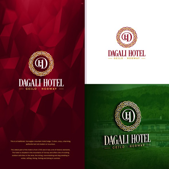 Hotel design with the title 'Dagali Hotel'