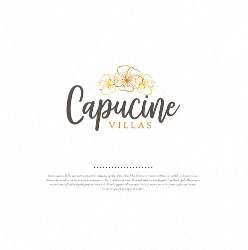Villa design with the title 'Capucine Villas'