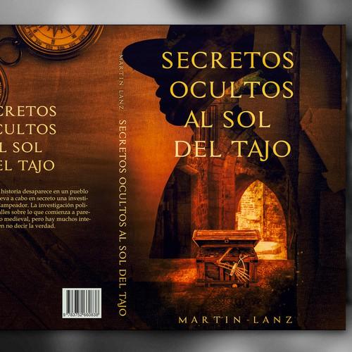 Poster book cover with the title 'Secretos ocultos al sol del Tajo'
