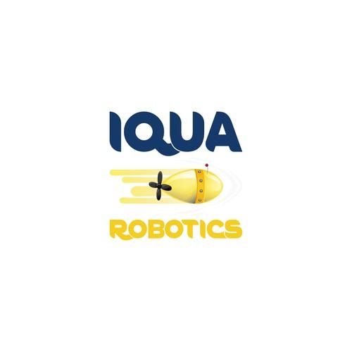 Aquatic design with the title 'Logo idea for underwater robotics'
