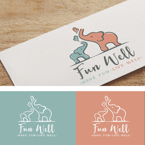 Soft design with the title 'Fun, playful logo for a baby company'