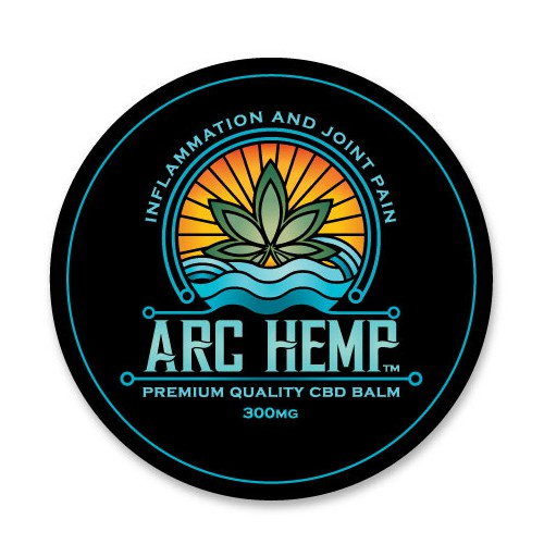 Cannabis label with the title 'ARC Hemp'