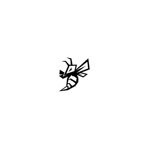 Killer logo with the title 'POWER BEE LOGO'