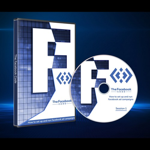 DVD cover design with the title 'DVD design for Facebook ads school'