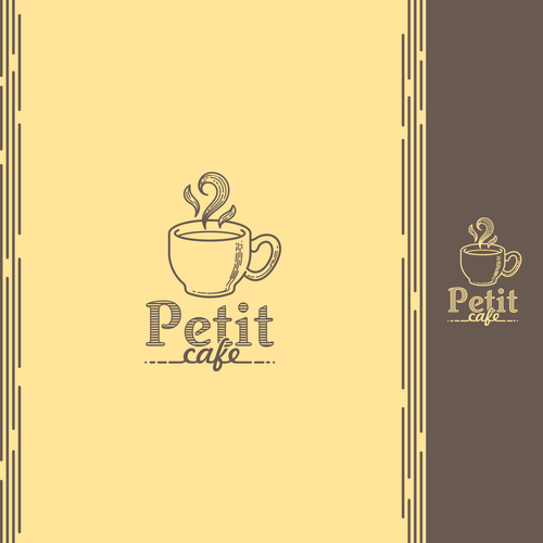 Cup brand with the title 'Logo for a cafe'