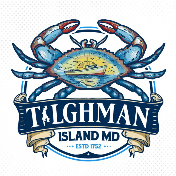 Banner logo with the title 'Tilghman Island Flag'
