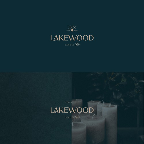 Candle logo with the title 'Elegant logo for a luxurious candles brand'