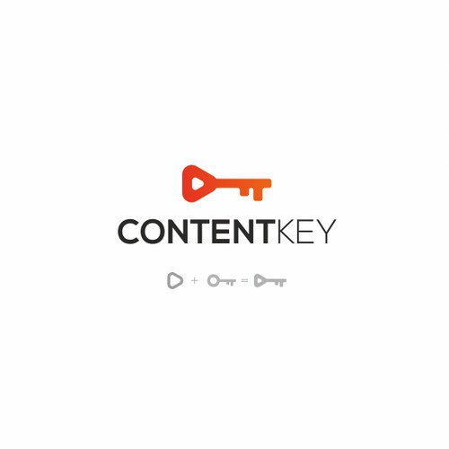 Content logo with the title 'Content key logo'