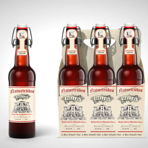 Retail label with the title 'Beer label design'