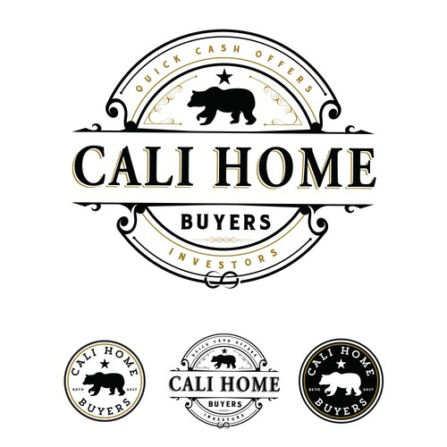 Modern vintage design with the title 'Cali Home Buyers'
