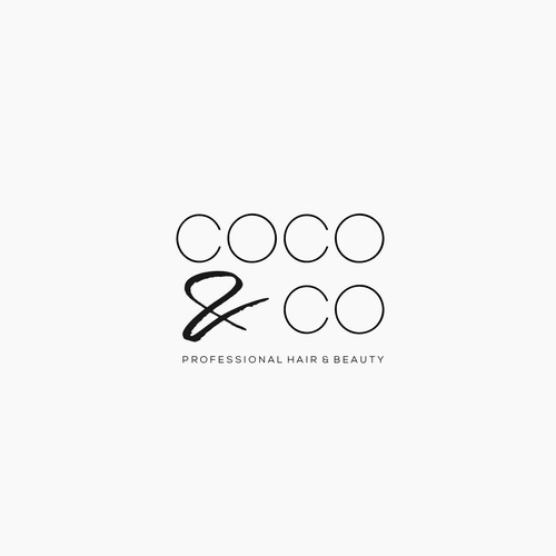 Brush stroke logo with the title 'Clean logo concept for a Professional Beauty Salon'